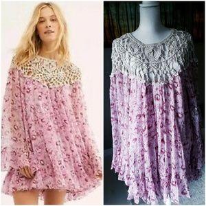 Free People Faded Daisy Frock Dress